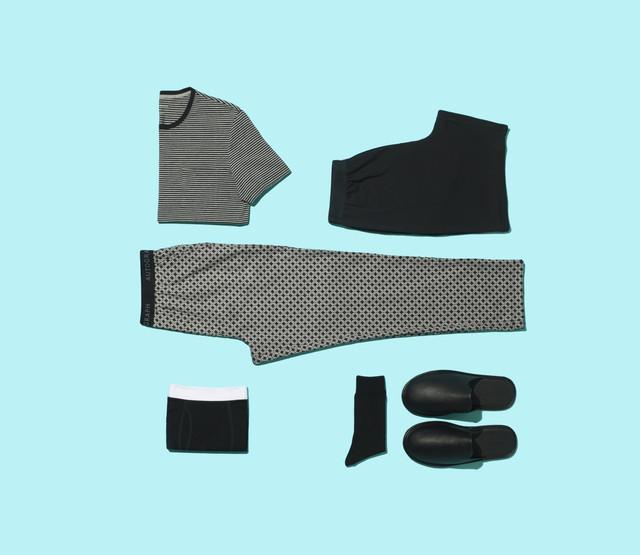 Premium-Cotton-Stripe-T-Shirt-Vest-Pyjama-Shorts-Woven-Pyjama-Bottoms