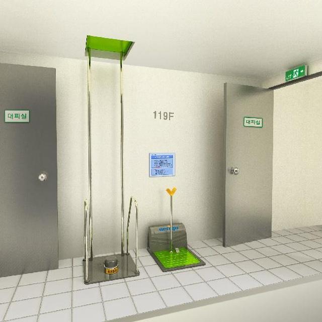 Необычная система для аварийной эвакуации из здания (8 фото)