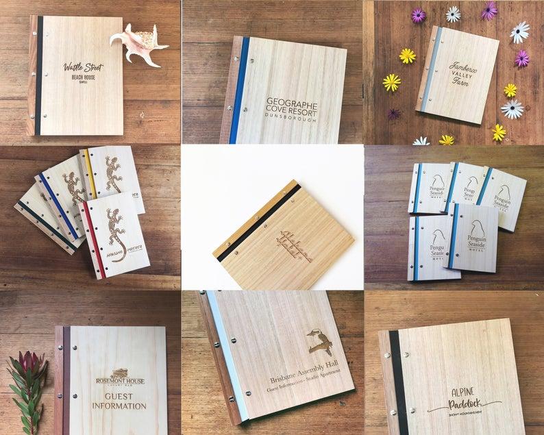 Bamboo Menu Folder With Laser Engraving