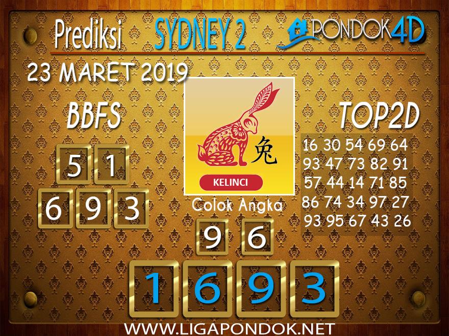 Prediksi Togel  SYDNEY 2 PONDOK4D 23 MARET 2019
