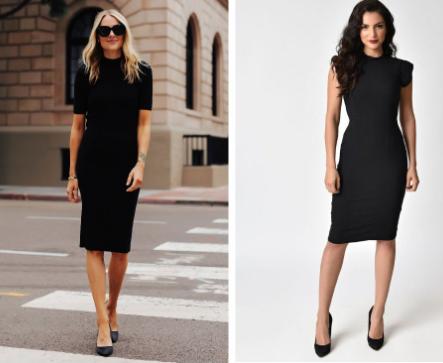 черные туфли с черным платьем