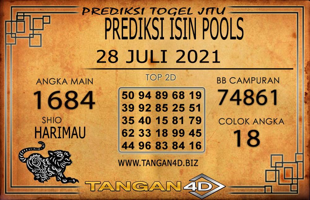 PREDIKSI TOGEL ISIN TANGAN4D 28 JULI 2021