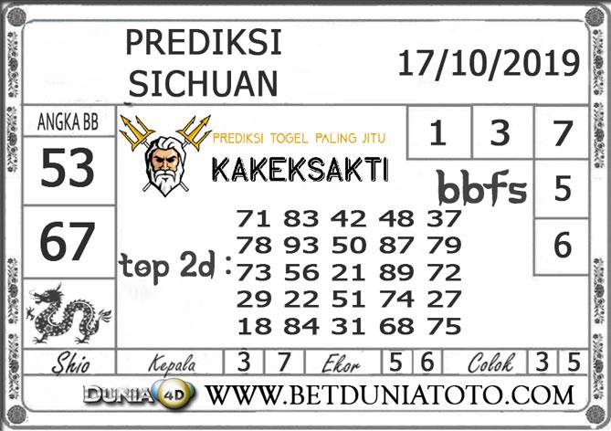 """Prediksi Togel """"SICHUAN"""" DUNIA4D 17 OKTOBER 2019"""
