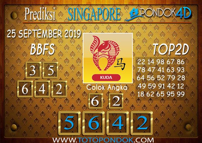 Prediksi Togel SINGAPORE PONDOK4D 25 SEPTEMBER 2019