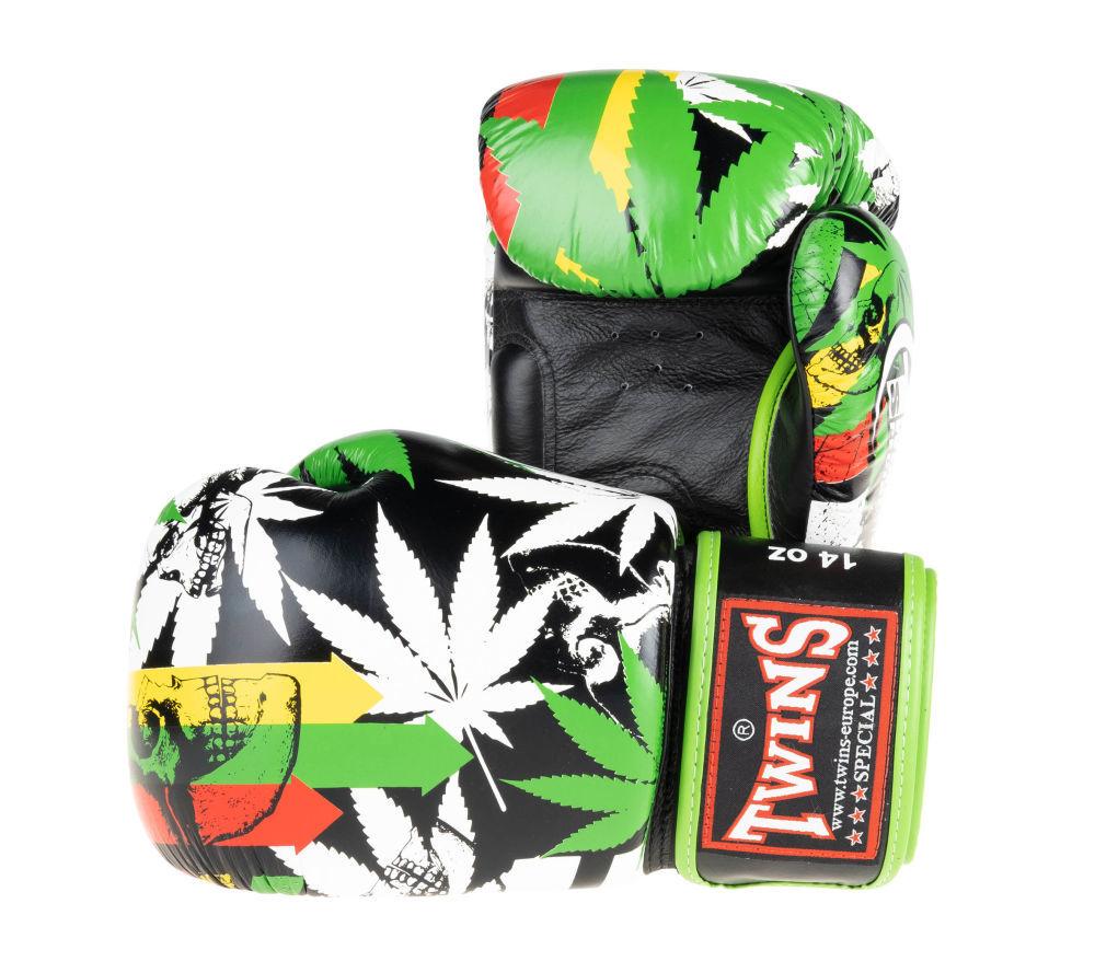 Оригинальные боксерские перчатки Twins Grass3