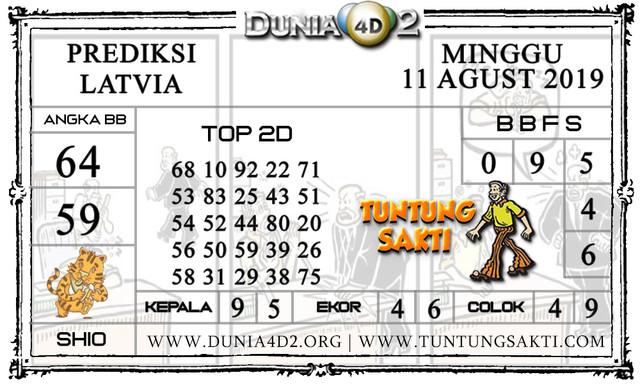 "Prediksi Togel ""LATVIA"" DUNIA4D2 11 AGUSTUS 2019"