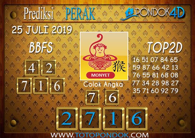 Prediksi Togel PERAK POOLS PONDOK4D 25 JULI 2019