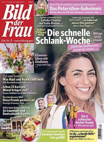 Cover: Bild der Frau Magazin No 34 vom 20  August 2021