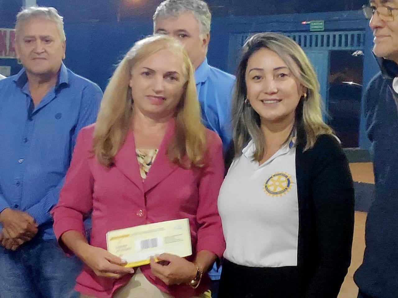 Francisca Justino e Tânia Fukao, presidentes das entidades
