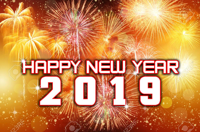 Happy-New-Year-2019-with-colorful-fireworks