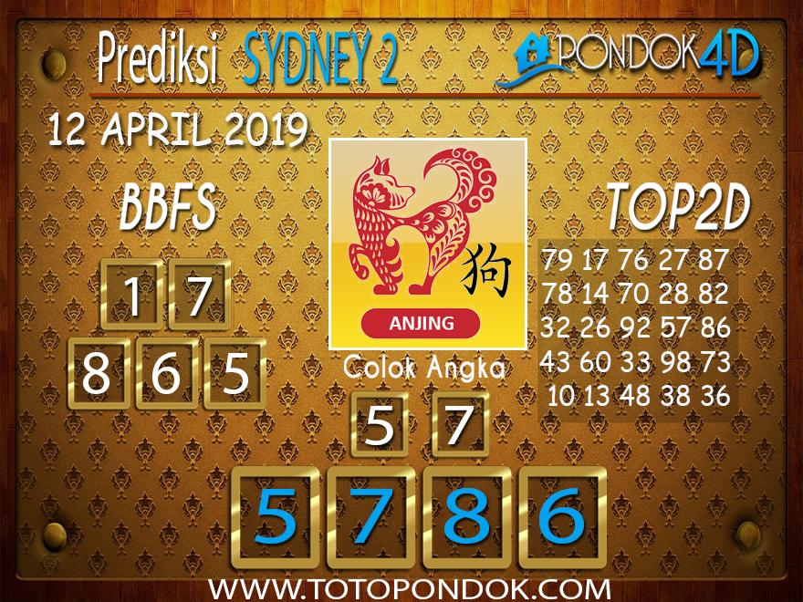 Prediksi Togel SYDNEY 2 PONDOK4D 12 APRIL 2019