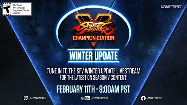 街头霸王5:冠军版2月11日更新直播设置 SFV-Winter-Update-02-02-21-600x338