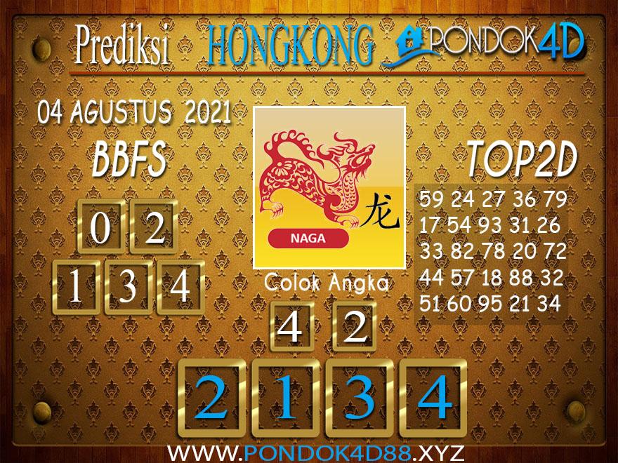 Prediksi Togel HONGKONG PONDOK4D 04 AGUSTUS 2021
