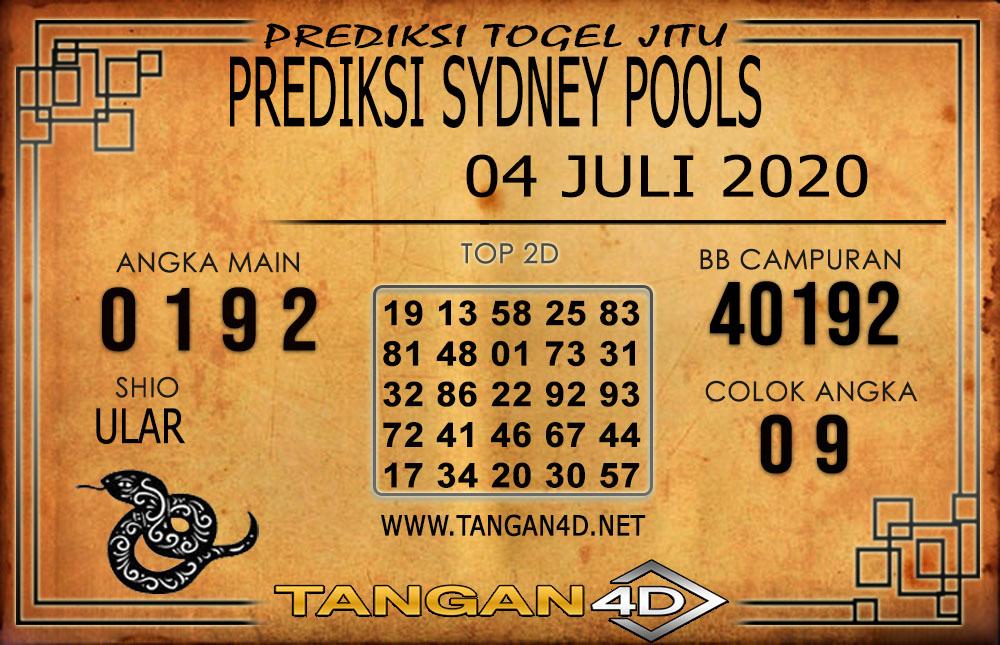 PREDIKSI TOGEL SYDNEY TANGAN4D 04 JULI 2020