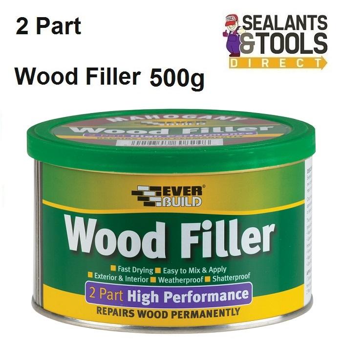 Everbuild 2 Part Coloured Wood Filler 500g 7 Colours