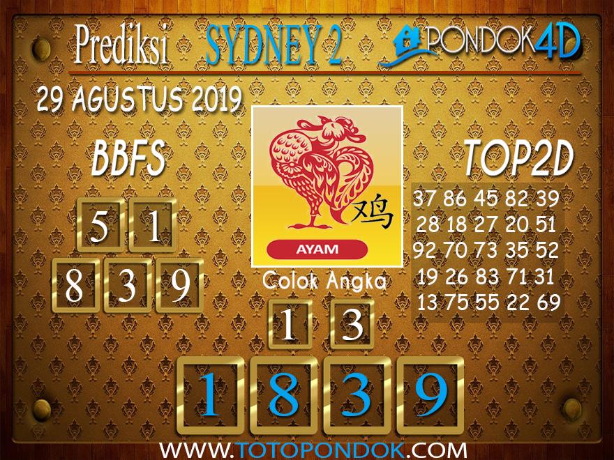 Prediksi Togel SYDNEY 2 PONDOK4D 29 AGUSTUS 2019