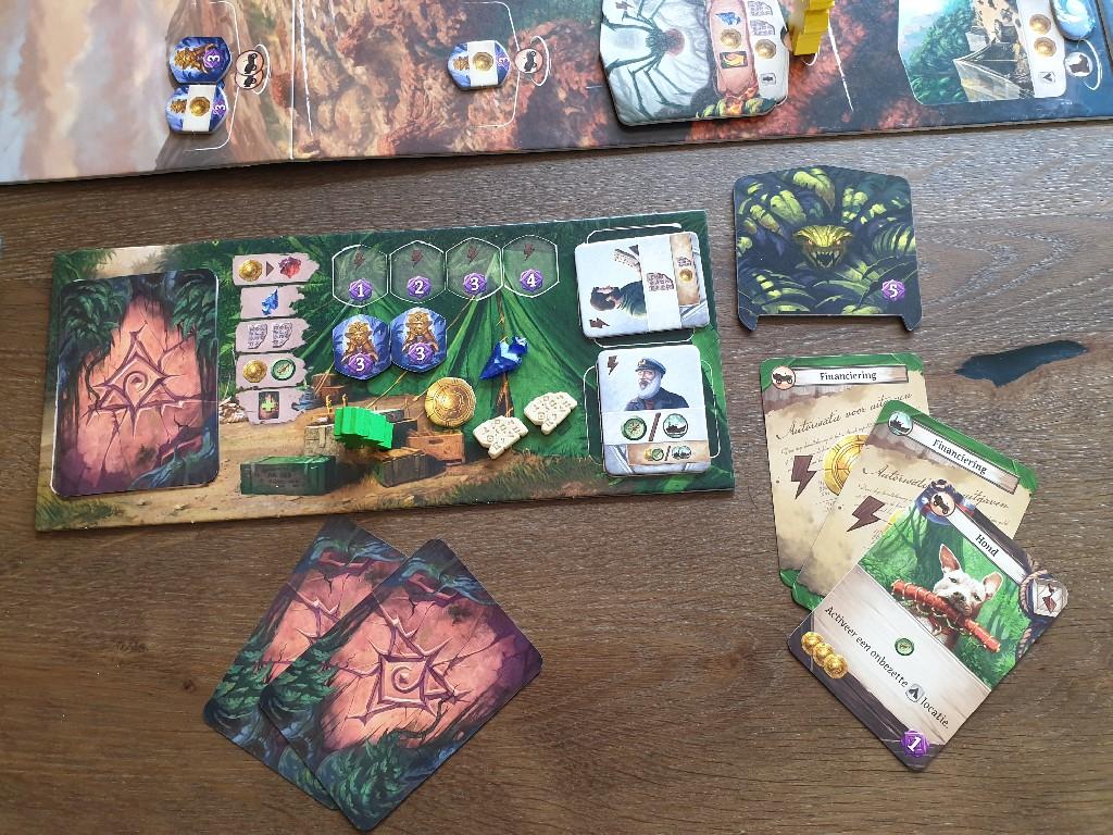 De Verdwenen Ruïnes van Arnak - Spelersbord