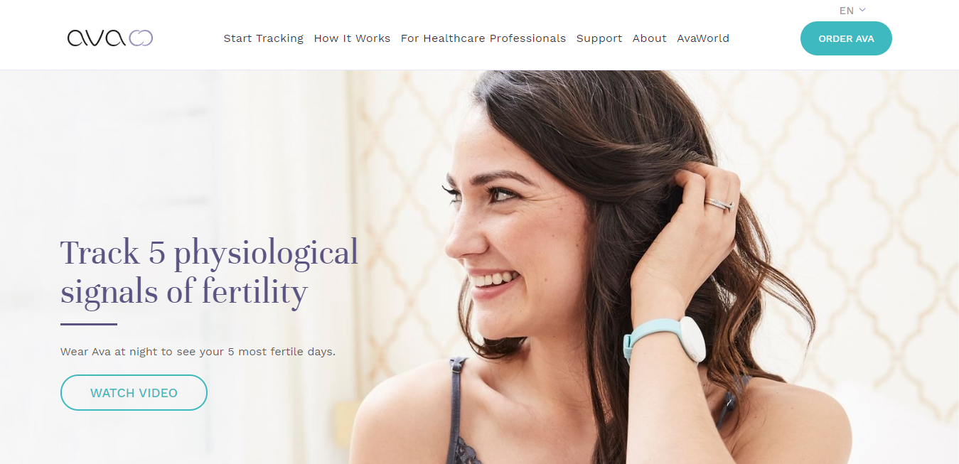 The Ava Fertility Tracker travel product recommended by Aimee Grove on Pretty Progressive.