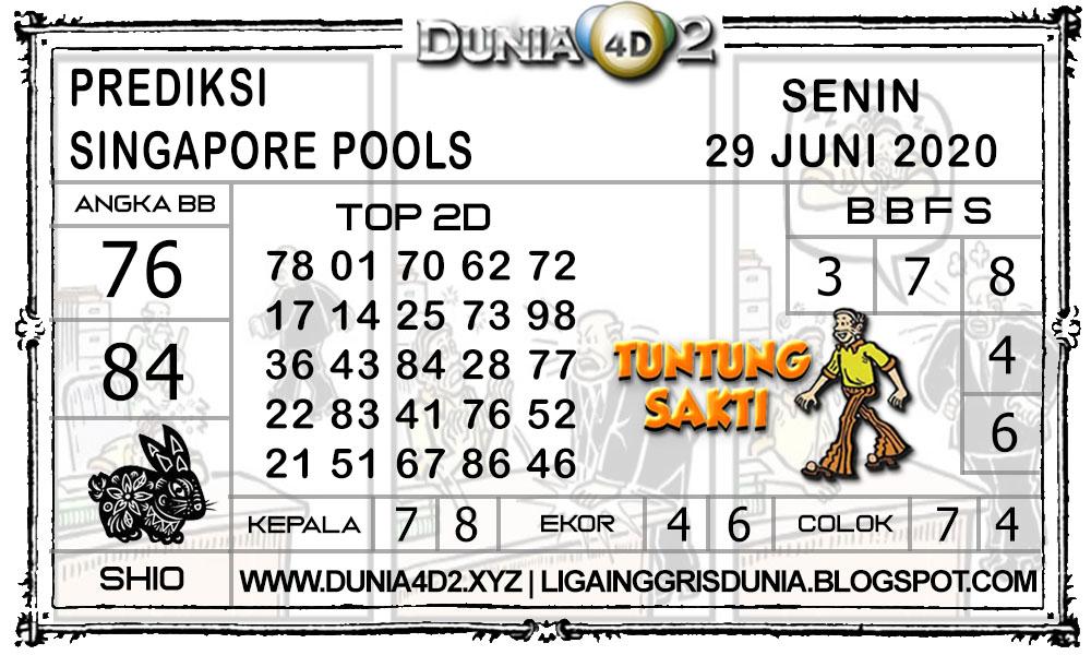 Prediksi Togel SINGAPORE DUNIA4D2 29 JUNI 2020