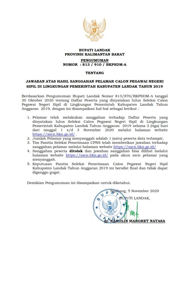 PENGUMUMAN-HASIL-SANGGAH-SELEKSI-CPNS-KAB-LANDAK-T-A-2019-001
