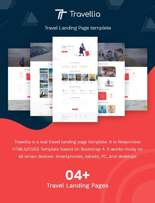 Travellia - Travel Landing Page - 1