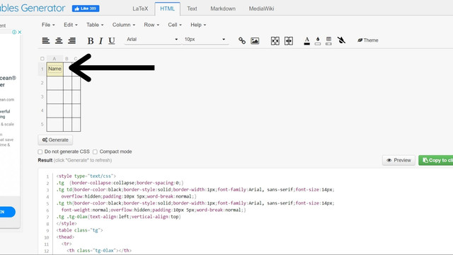 how to insert table in blog - dcoder solutions