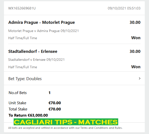 BEST DOUBLE HALFTIME / FULLTIME FIXED MATCHES