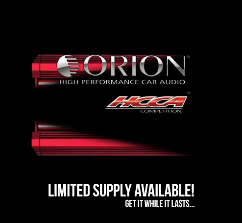 We are an authorized dealer for Orion High Performance Car Audio Products - Get them while they last!
