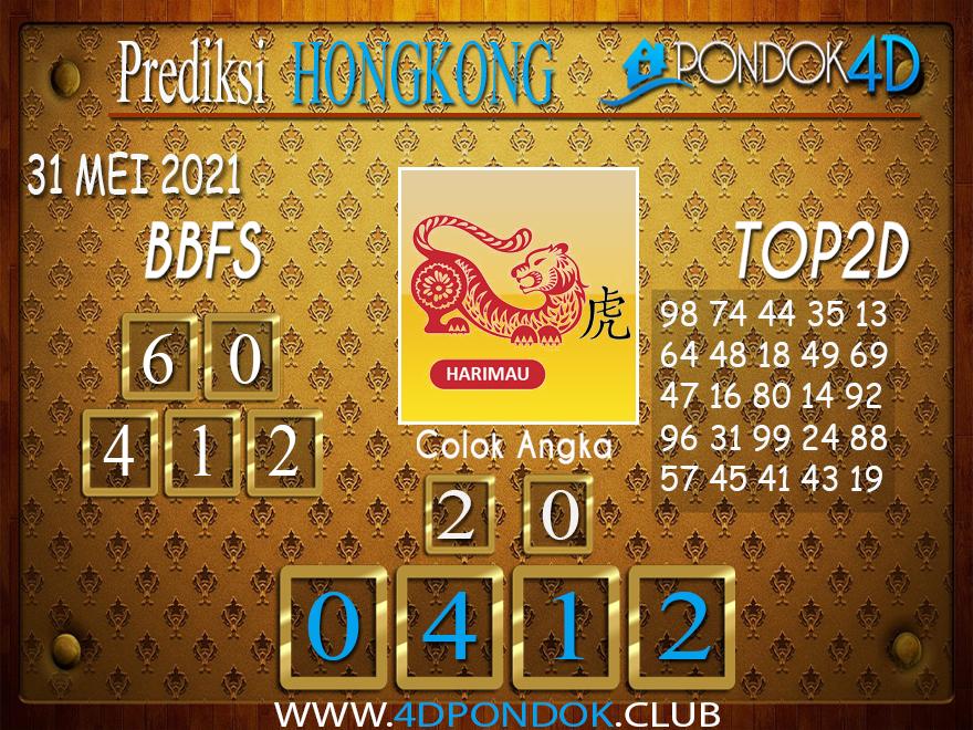 Prediksi Togel HONGKONG PONDOK4D 31 MEI 2021