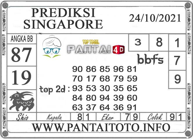 PREDIKSI TOGEL Singapore PANTAI4D 24 OKTOBER 2021