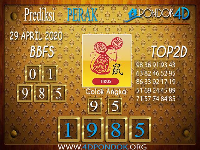 Prediksi Togel PERAK PONDOK4D 29 APRIL 2020