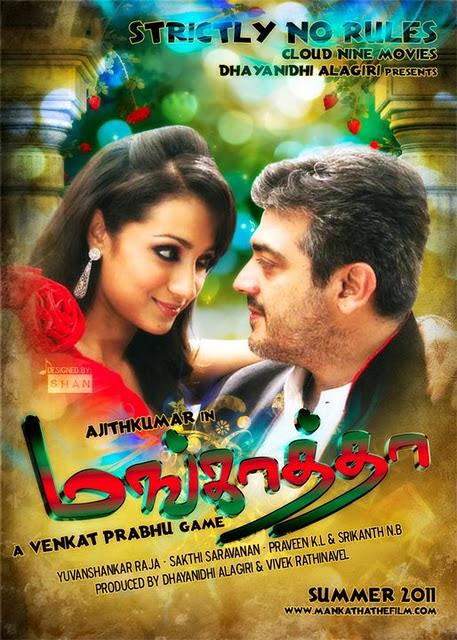 Mankatha (2011) UNCUT Dual Audio Hindi 480p Bluray x264 AAC 500MB ESub