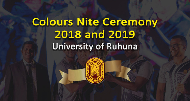 University of Ruhuna Celebrates Its Outstanding Sports Stars at Colors Night 2018/2019