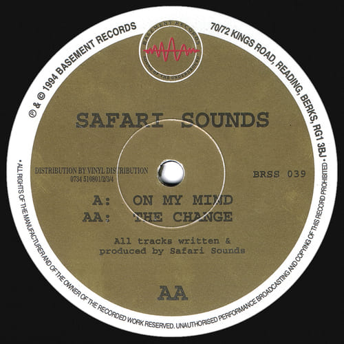 Safari Sounds - On My Mind / The Change