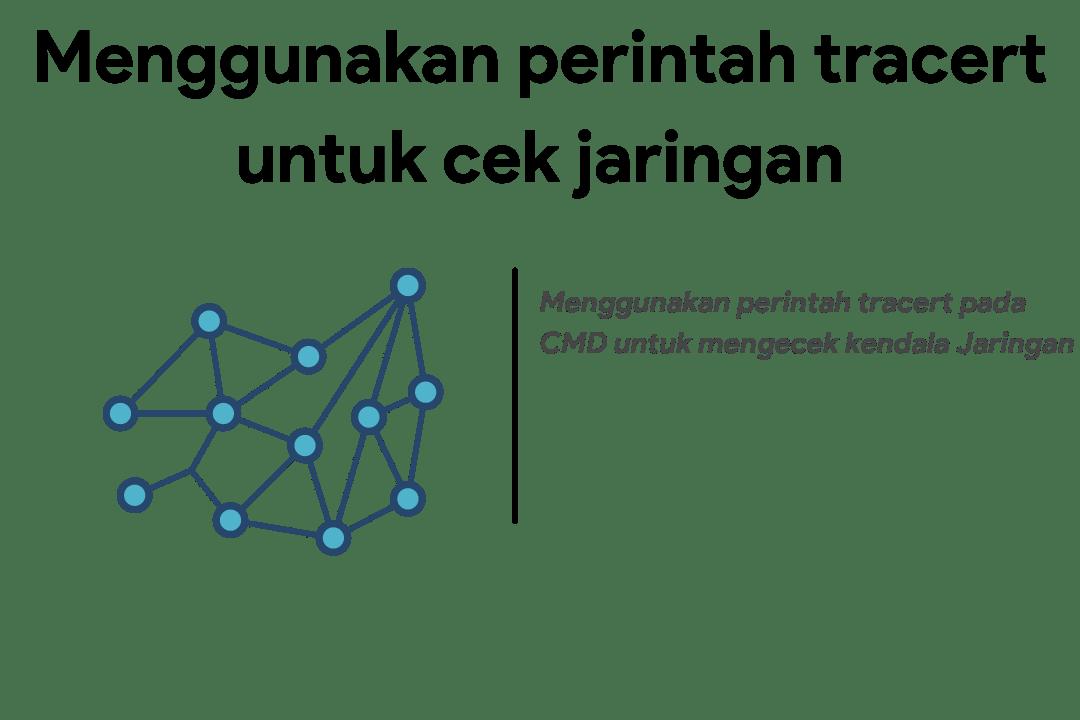 menggunakan perintah tracert cek kendala jaringan