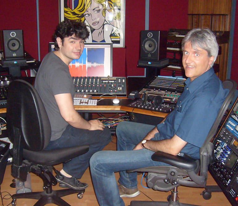Professor Conti in the studio