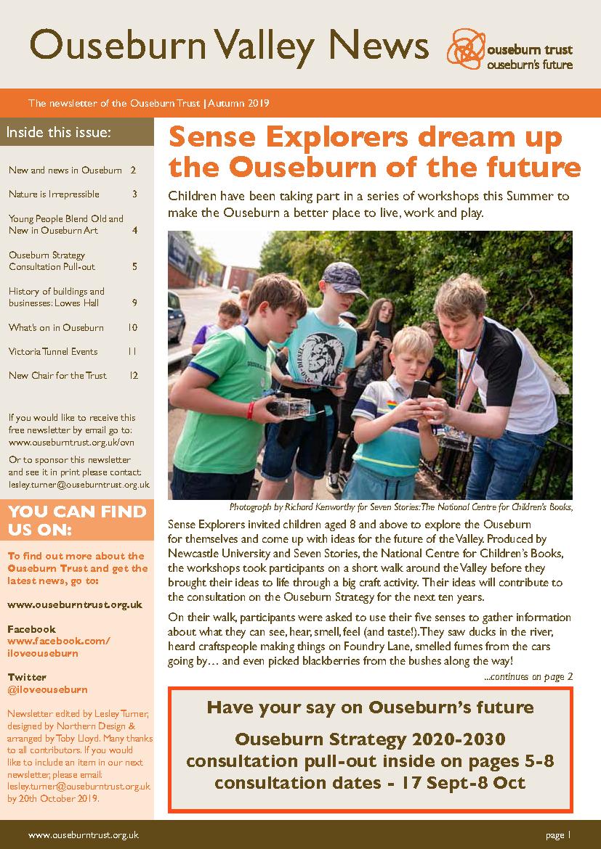 Ouseburn Trust newsletter - Sep 19