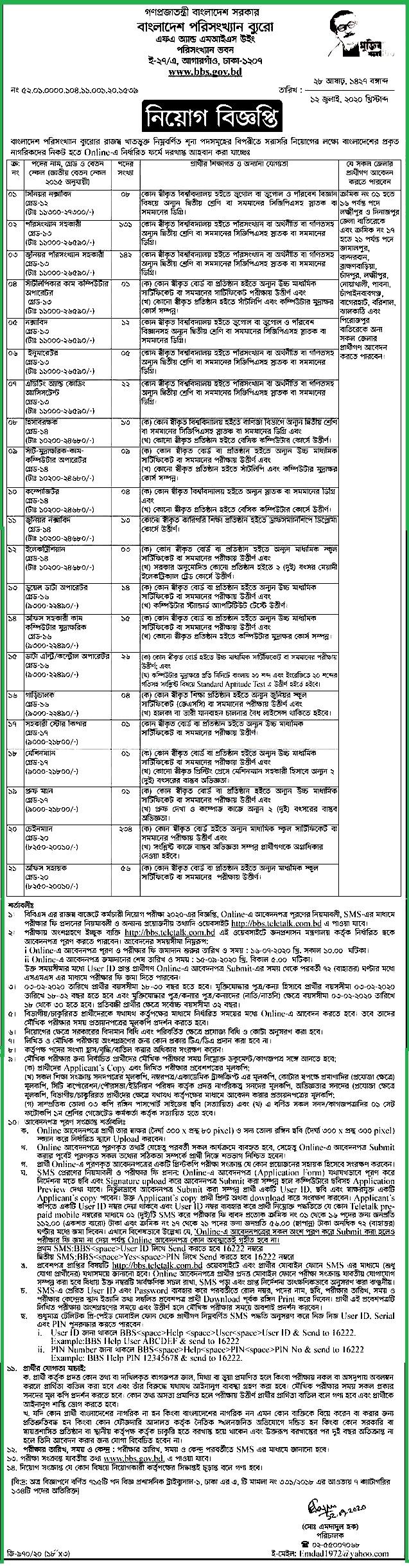 Bangladesh-Bureau-Statistics-Job-Circular