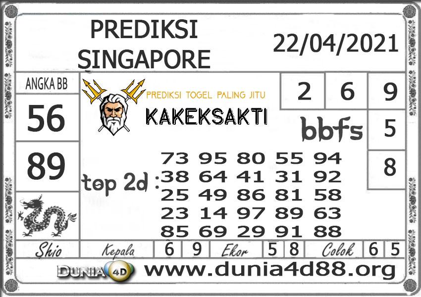 Prediksi Togel SINGAPORE DUNIA4D 22 APRIL 2021
