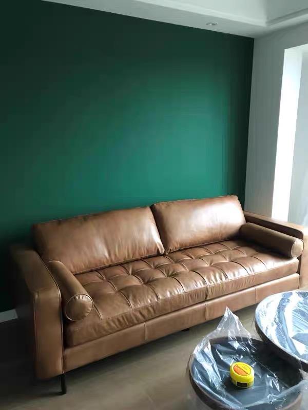 Porto two seater sofa Italian genuine leather