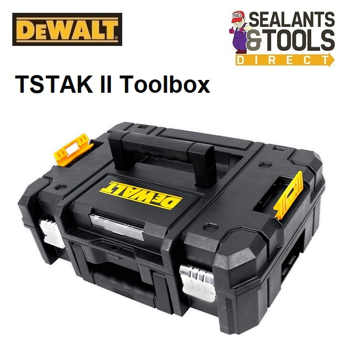 Dewalt DWST170703 TSTAK II Toolbox Suitcase Flat Top Box