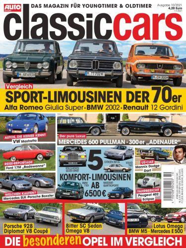 Cover: Auto Zeitung Classic Cars Magazin No 10 2021
