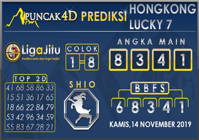 PREDIKSI TOGEL HONGKONG LUCKY7 PUNCAK4D 14 NOVEMBER 2019