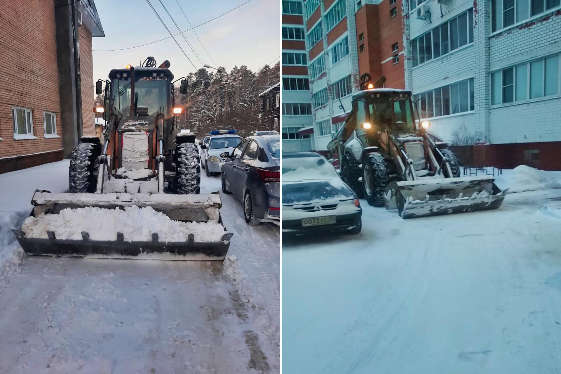 Убрали снег в поселке УКС и на Чкалова, 5