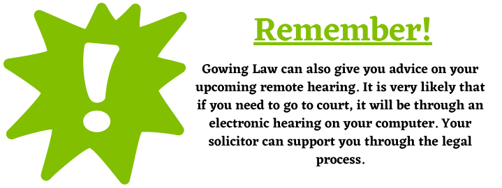 remote hearings and personal injury claims