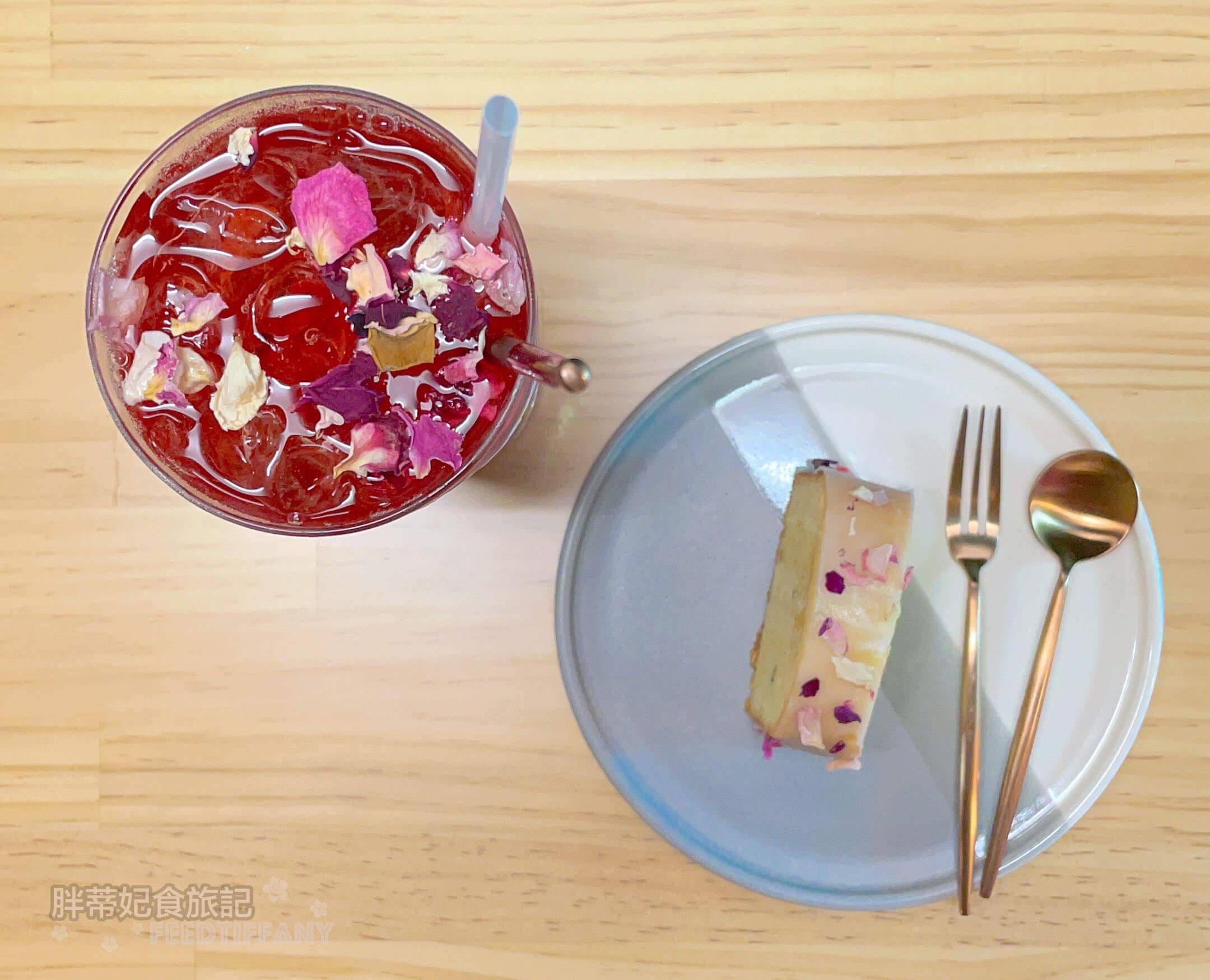 可貝塔 檸檬桂花蜜磅蛋糕與洛神玫瑰冰茶