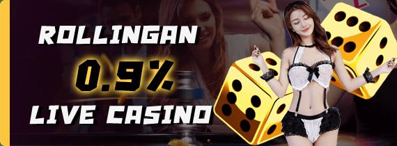 ROLLINGAN 0.9% LIVE CASINO