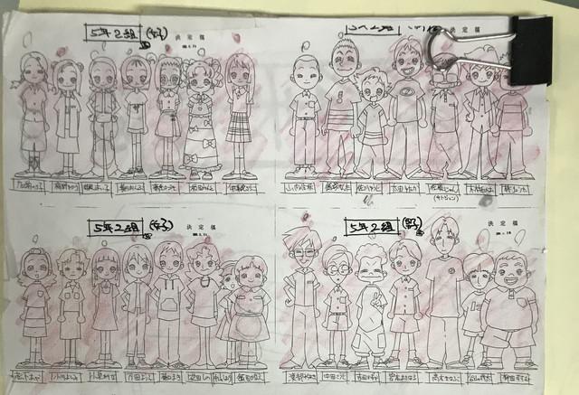 《小魔女DoReMi》原畫石崎寿夫分享動畫本傳最終話的角色表 Em2-Uve-UVQAEt-N-G-1