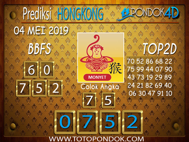 Prediksi Togel HONGKONG PONDOK4D 04 MEI 2019