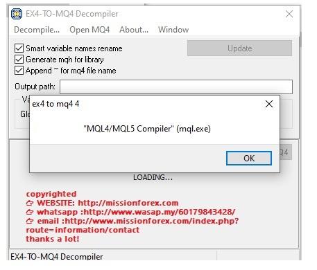 EX4-TO-MQ4 V4 decompiler (FULL VERSION (Enjoy Free BONUS Forex  Expert Advisor Trio Dancer(UNLOCKED))